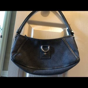 Gucci mini black hobo bag